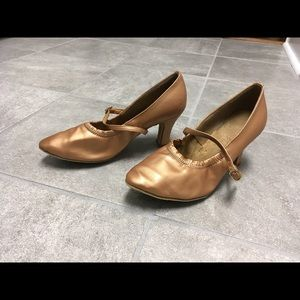 Shoes - Rose Gold classic ballroom dance shoe
